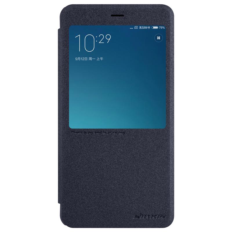 Чехол книжка NillKin Sparkle Leather для Xiaomi Redmi Note 4 (Черный)