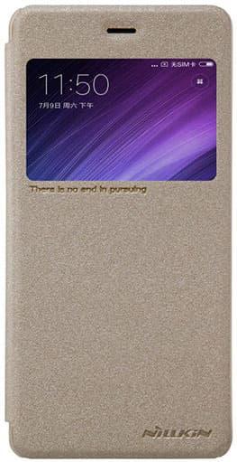 Чехол книжка NillKin Sparkle Leather для Xiaomi Redmi Pro (Золотой)