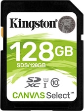 Карта памяти Kingston Canvas Select SDS/128GB SDXC 128GB