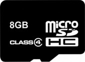Карта памяти Карта памяти Smart Buy microSDHC (Class 4) 8 Гб (SB8GBSDCL4-00)