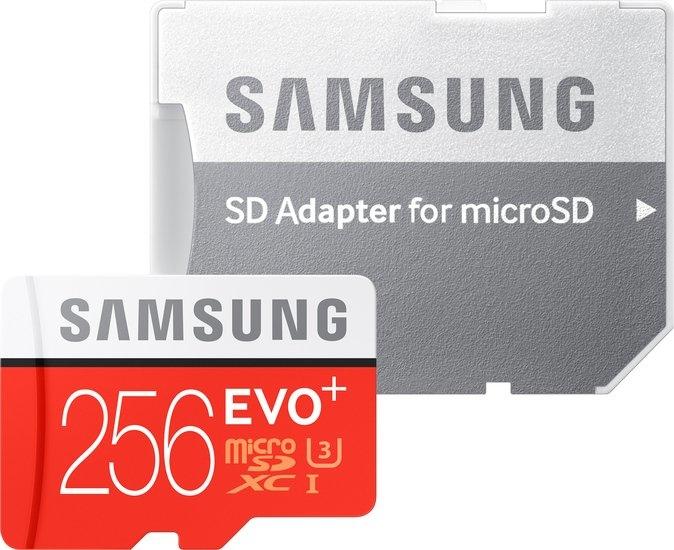 Карта памяти Samsung EVO+ microSDXC 256GB + адаптер [MB-MC256]