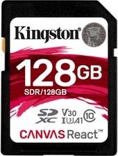 Карта памяти Карта памяти Kingston Canvas React SDR/128GB SDXC 128GB