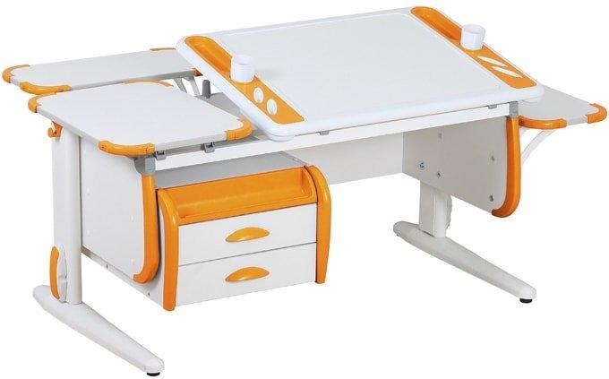 Парта Дэми White-Techno Maxi Сут-31 (белый/оранжевый)