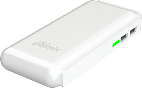 Портативное зарядное устройство Ritmix RPB-10001L (белый)