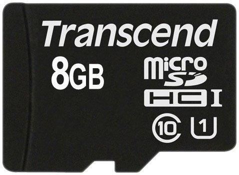 Карта памяти Transcend microSDHC Class 10 UHS-I 8GB (TS8GUSDCU1)