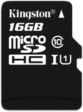 Карта памяти Kingston microSDHC (Class 10) U1 16GB [SDCIT/16GBSP]