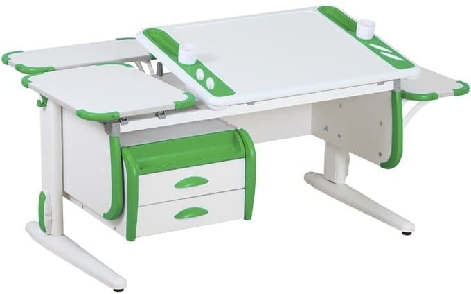 Парта Дэми White-Techno Maxi Сут-31 (белый/зеленый)