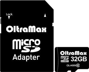 Карта памяти Карта памяти Oltramax microSDHC Class 10 32GB +адаптер