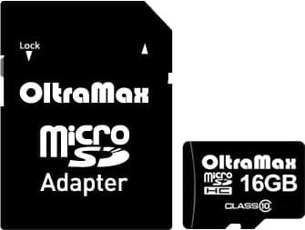 Карта памяти Oltramax microSDHC Class 10 16GB +адаптер