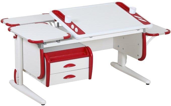 Парта Дэми White-Techno Maxi Сут-31 (белый/красный)