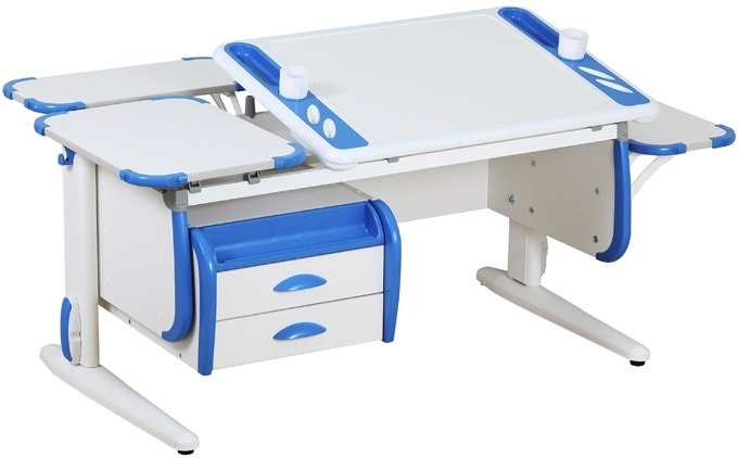 Парта Дэми White-Techno Maxi Сут-31 (белый/синий)