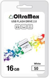 USB Flash Oltramax 50 16GB (белый)