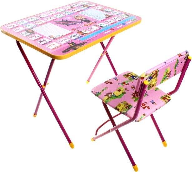 Складной стол Nika КП2/3 Маша и медведь: Азбука 3