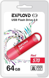 USB Flash Exployd 570 64GB (красный) [EX-64GB-570-Red]