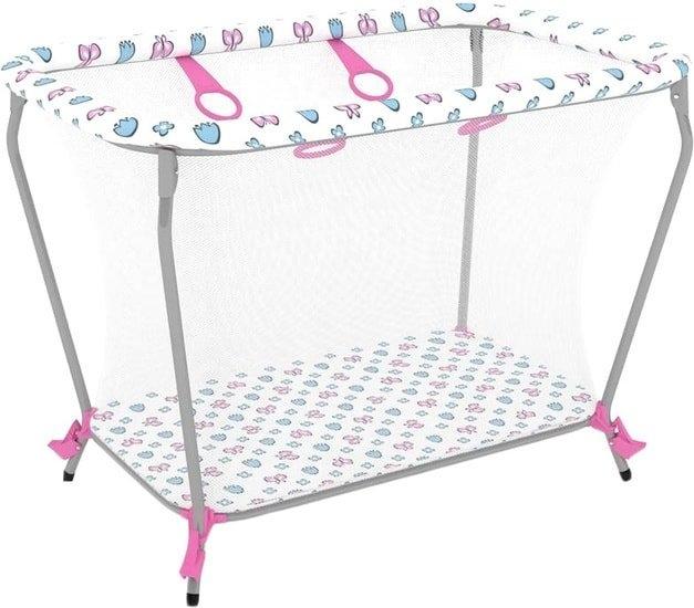 Игровой манеж Polini Kids Классика (розовый)