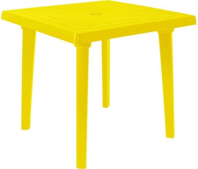 Стол Алеана Квадратный 80х80 см (желтый)