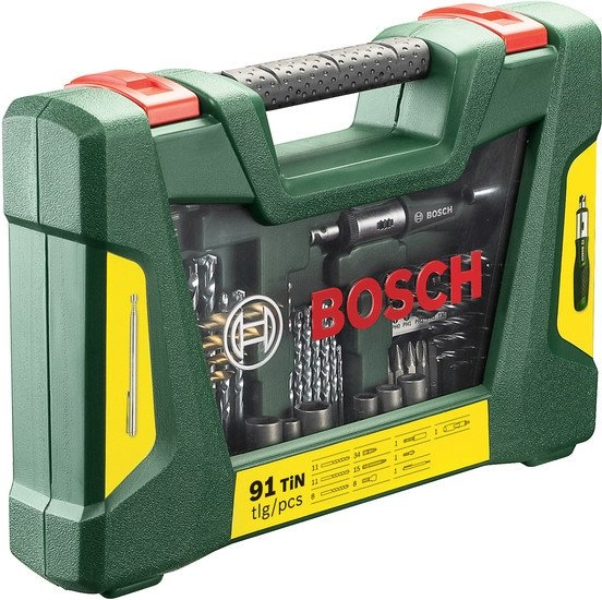 Универсальный набор инструментов Bosch V-Line Titanium 2607017195 91 предмет