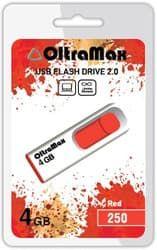 USB Flash Oltramax 250 4GB (красный) [OM-4GB-250-Red]