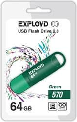 USB Flash Exployd 570 64GB (зеленый) [EX-64GB-570-Green]