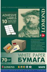 Самоклеящаяся бумага Lomond самоклеющаяся 10 делений А4 70 г/кв.м. 50 листов (2100055)