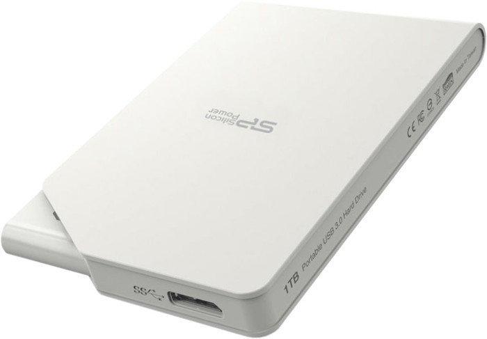 Внешний накопитель Внешний жесткий диск Silicon-Power Stream S03 1TB White (SP010TBPHDS03S3W)
