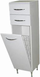СанитаМебель Камелия-42к Д2 шкаф-полупенал с корзиной