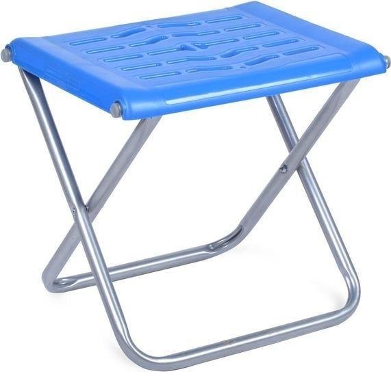 Табурет Nika походный с пластиковым сиденьем ПСП4 (синий)