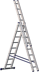 Лестница-стремянка Алюмет трехсекционная универсальная 5310 3×10