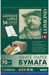 Самоклеящаяся бумага Lomond самоклеющаяся 14 делений А4 70 г/кв.м. 50 листов (2100085)