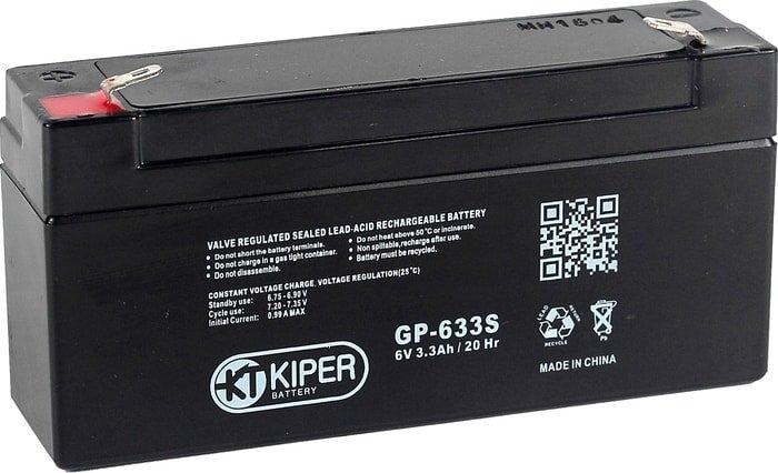 Аккумулятор для ИБП Kiper GP-633 S F1 (6В/3.3 А·ч)