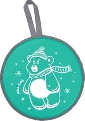 Санки-ледянка Nika ЛР40 Медвежонок (зеленый)