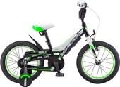Детский велосипед Stels Pilot 180 16 V010 (черный/зеленый, 2018)