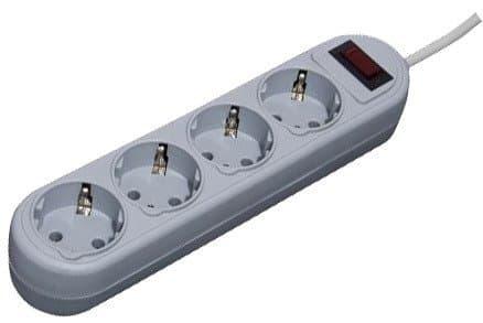 Сетевой фильтр Defender ES Lite 4 розетки, серый, 1.8 м