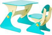Детский стол Столики Детям Буслик Б-ББ (бежевый/бирюзовый)