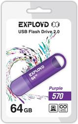 USB Flash Exployd 570 64GB (фиолетовый) [EX-64GB-570-Purple]