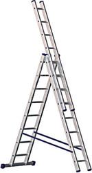 Лестница-стремянка Алюмет трехсекционная универсальная 5309 3×9