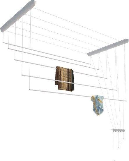Сушилка для белья Лиана потолочная, пластик белый, 1 м (СП-010)