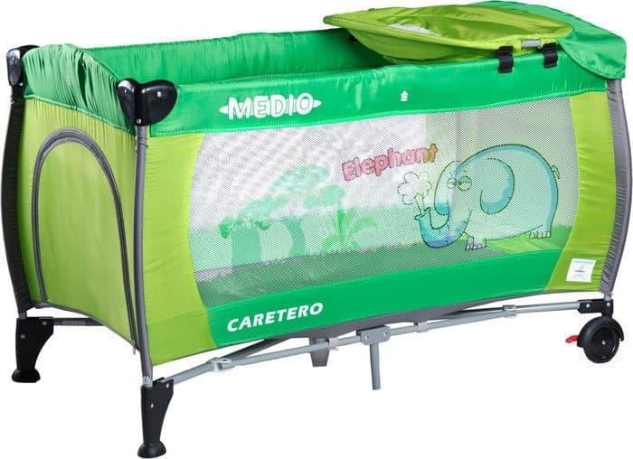 Манеж-кровать Caretero Medio (зеленый)