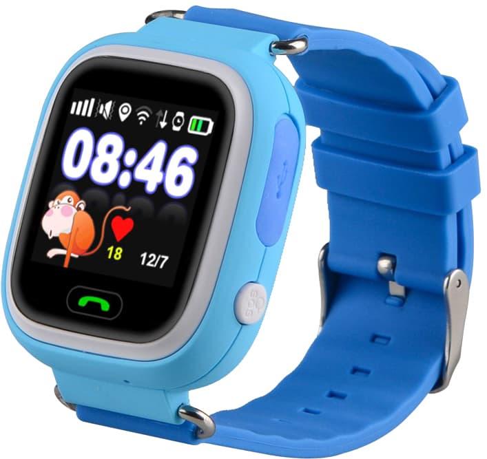 Умные часы Smart Baby Watch Q80 (голубой/синий)