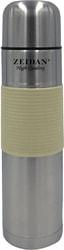 Термос ZEIDAN Z9050 1л (серебристый/желтый)