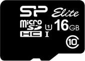 Карта памяти Карта памяти Silicon-Power microSDHC Elite UHS-1 (Class 10) 16GB (SP016GBSTHBU1V10)
