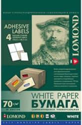 Самоклеящаяся бумага Lomond самоклеющаяся 4 деления А4 70 г/кв.м. 50 листов (2100025)