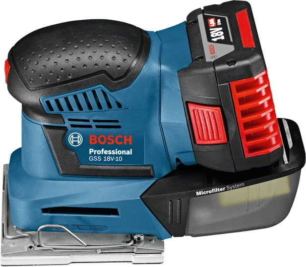Виброшлифмашина Bosch GSS 18V-10 Professional [06019D0200]