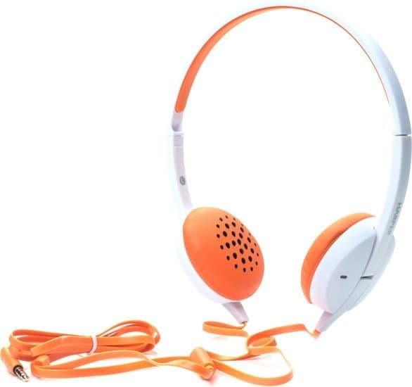 Наушники Harper HN-300 (белый/оранжевый)