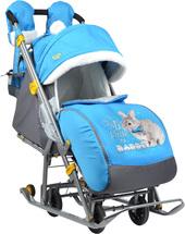 Санки-коляска Nika НД7-2 (голубой)