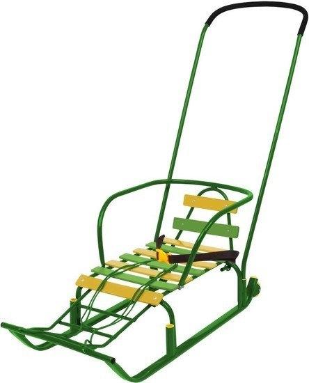 Санки Nika Тимка 8 Комфорт (зеленый)