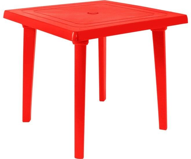 Стол Алеана Квадратный 80х80 см (красный)