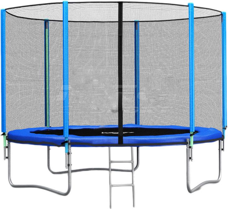 Батут Neo-Sport 252 см — 8ft с сеткой и лестницей