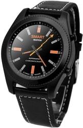 Умные часы NO.1 S9 (черный, кожаный ремешок)