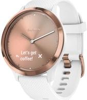 Гибридные умные часы Garmin Vivomove HR Sport S/M (розовое золото/белый)
